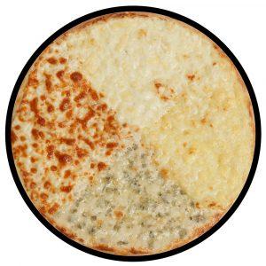 pizza quattro formaggi - impartita